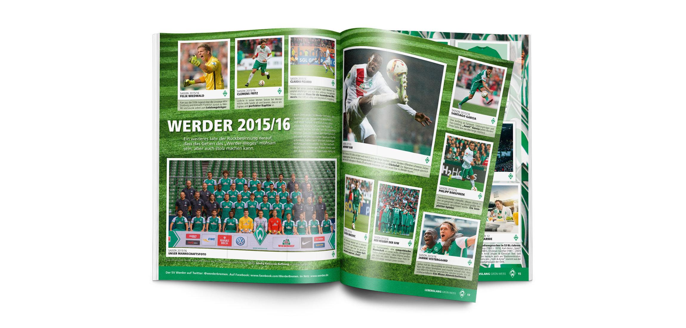 Original Panini-Sammelalbum SV Werder Bremen
